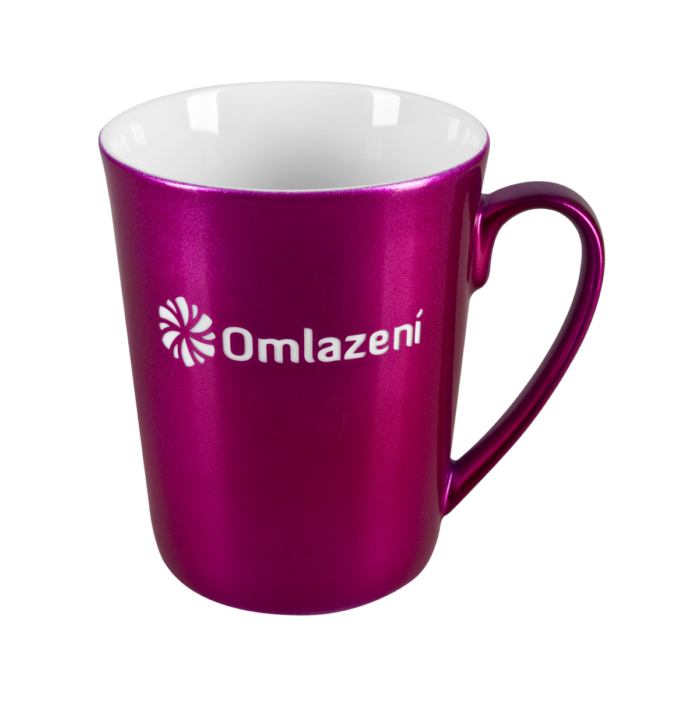 Porcelain mug Lena, Porcelain mug with logo, nice mug, original mug, coloring, metallic color, engraving logo, own color, own Pantone, advertising porcelain, original porcelain, advertising mugs