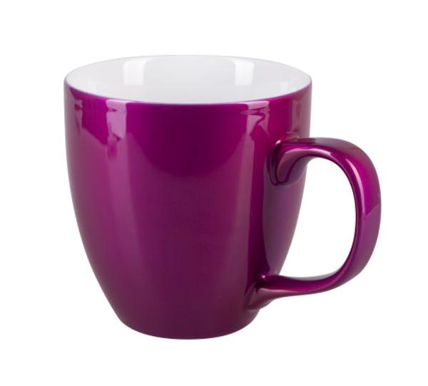 Porcelain mug Natali, Porcelain mug with logo, nice mug, original mug, coloring, glossy pink color, own color, own Pantone, advertising porcelain, original porcelain, advertising mugs