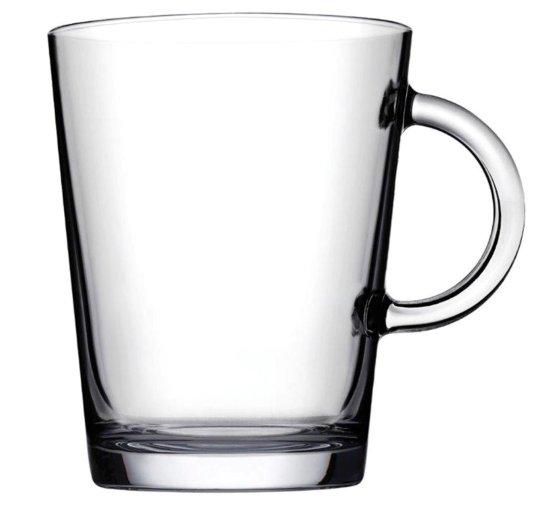 Glass Mug Luna 400, glass mug, nice glass, original glass, advertising glasses