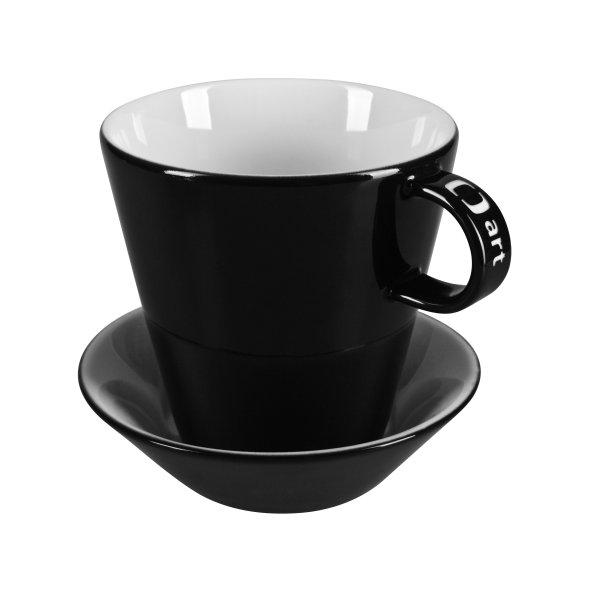 Porcelain cup with saucer Sandra L, porcelain cup with saucer with logo, nice cup and saucer, original cup and saucer, coloring cup, engraving logo, colored engraving, imprint logo, printing logo, own color, own Pantone, advertising porcelain, original porcelain, advertising cups with saucer,