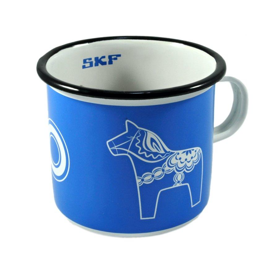 Enamel mug Viola, enamel mug with logo, nice mug, original enamel mug, retro mug, coloring mug, imprint logo, printing logo, own color, own Pantone, advertising mugs,