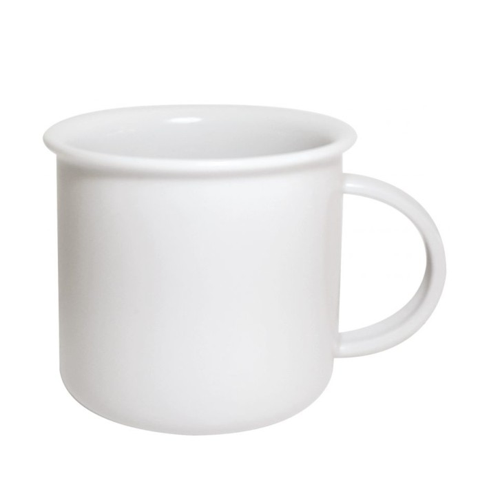 Porcelain mug Tara M, Porcelain mug with rim, original mug
