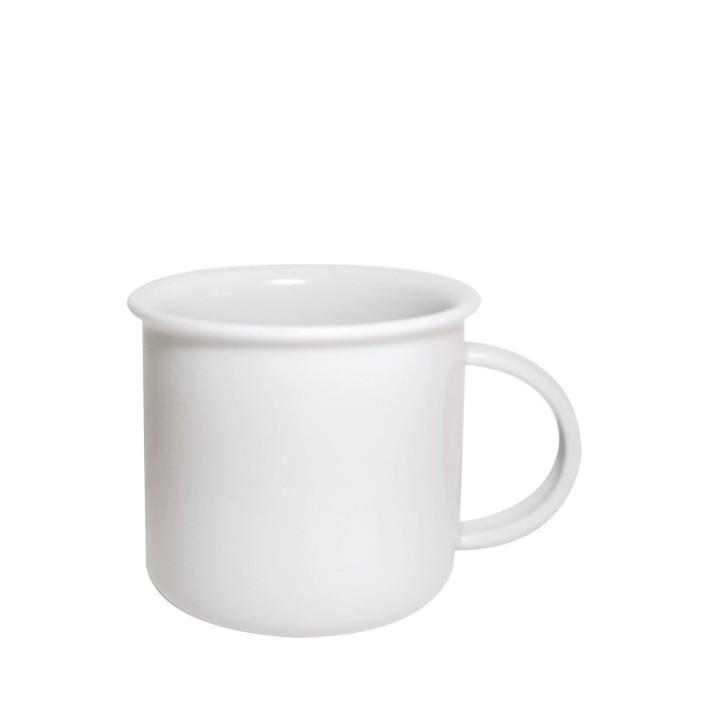 Porcelain mug Tara S, Porcelain mug with rim, nice mug, original mug, original mug with colored rim